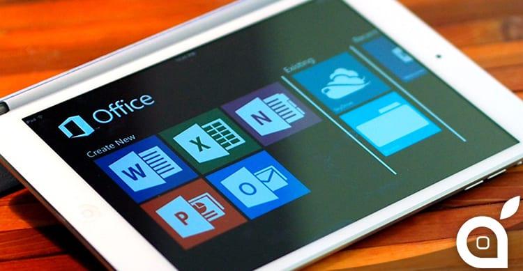Abbonamento Office 365 necessario per modificare documenti su iPad Pro