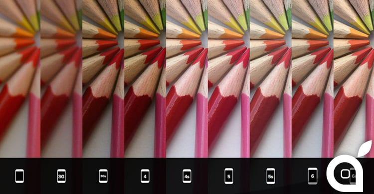 Da iPhone 2G ad iPhone 6S, fotocamere a confronto
