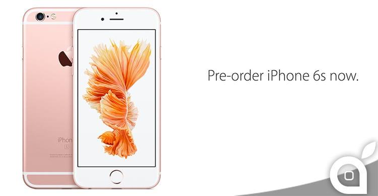 preordini iphone 6s