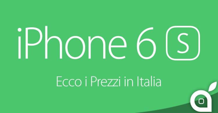 prezzi iphone6s italia