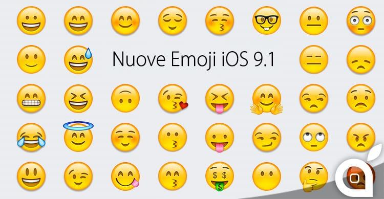 tante nuove emoji ios 9.1