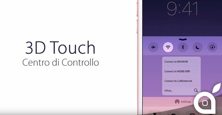 3d touch centro di controllo