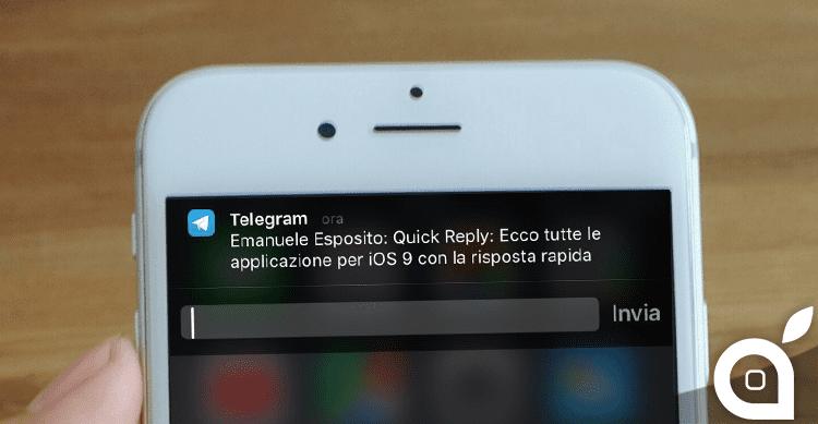 Quick Reply: Ecco tutte le applicazione per iOS 9 con la risposta rapida