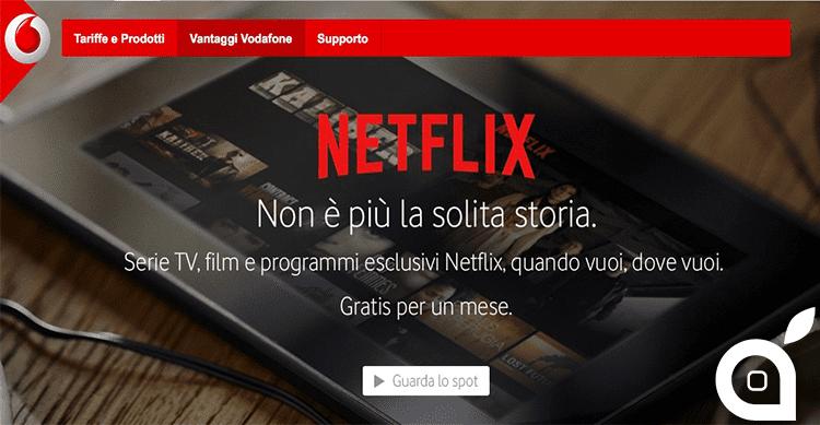 Vodafone: Da oggi è possibile abbonarsi a Netflix con il credito telefonico. In arrivo offerte esclusive 4G e Fibra con Netflix incluso