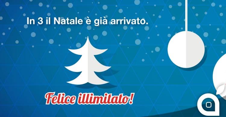 Natale in anticipo con 3: disponibile l'offerta All-In One Christmas 2015