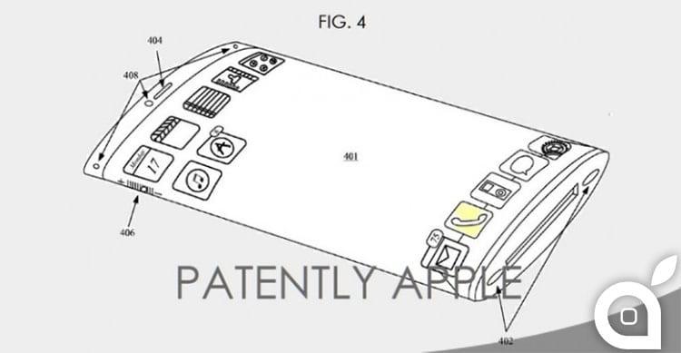 apple brevetti display curvo