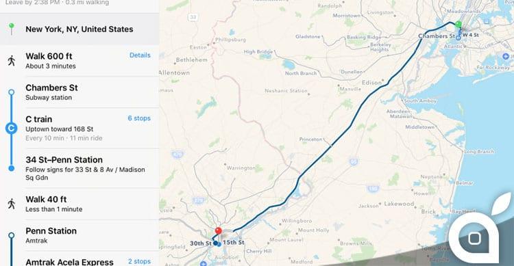 Aggiornamento per Mappe di Apple: inserite nuove informazioni sui trasporti pubblici