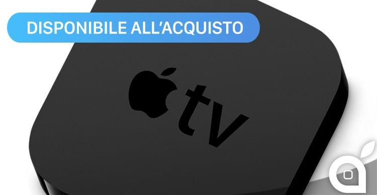 apple tv disponibile acquisto