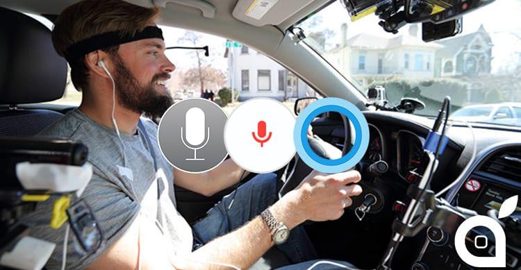 Alla guida Siri distrae più di Google Now, ma meno di Cortana