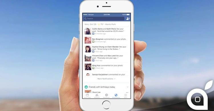 Facebook presenta la nuova rinnovata sezione Notifiche con tante interessanti funzioni [Video]