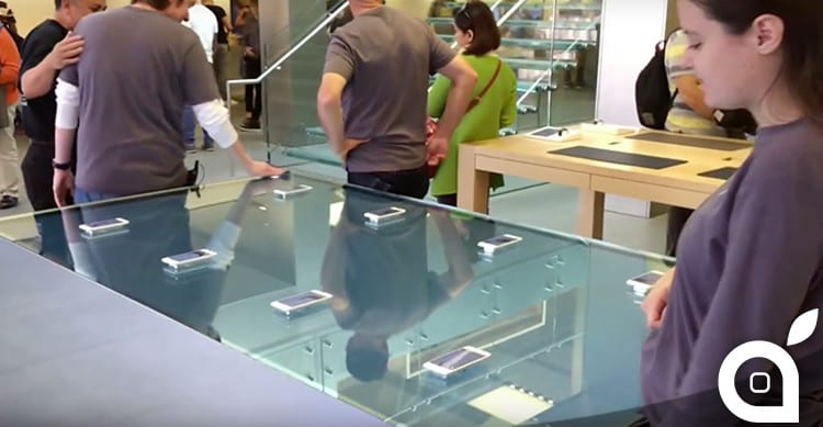 force touch table in apple store