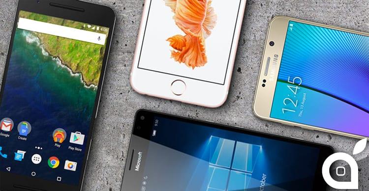 2Q16: iOS e Android dominano il mercato degli smartphone, Windows e BlackBerry sempre peggio
