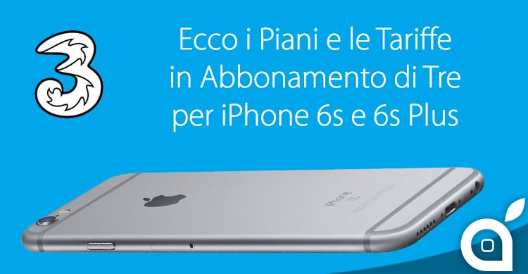 iphone 6s abbonamento tre