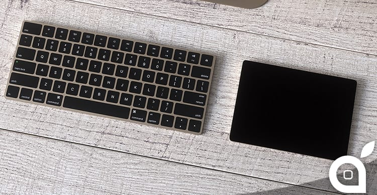 Magic Keyboard e Magic TrackPad 2 di Apple in versione gold [Concept]