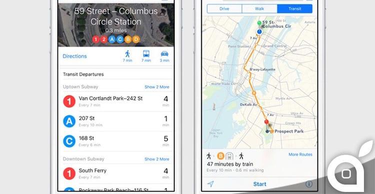 Apple estende Nearby e Flyover a nuove località