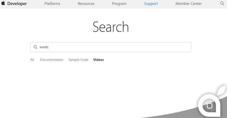 ricerca video apple