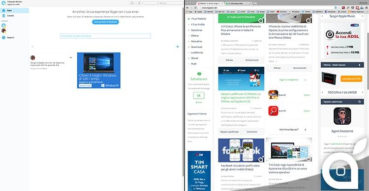Skype per Mac si aggiorna e supporta la Split View di El Capitan