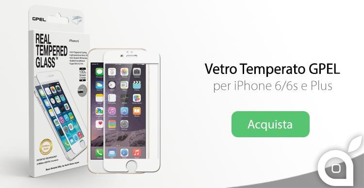 Vetro temperato GPEL, un ottimo alleato per proteggere lo schermo dell'iPhone 6 o dei nuovi iPhone 6s