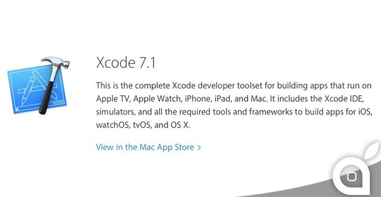 Xcode si aggiorna alla versione 7.1 con il supporto a iOS 9.1