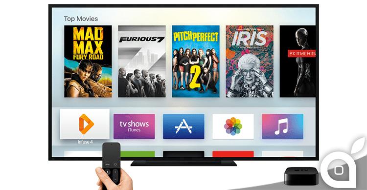 Apple aggiunge nuove categorie all' App Store della Apple TV di 4 generazione