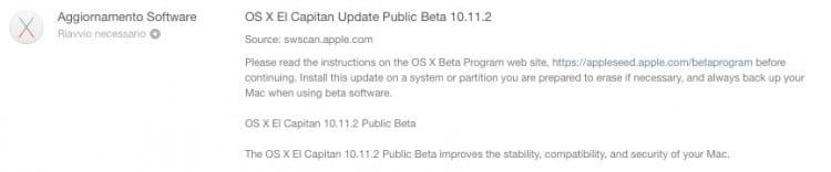 10.11.2 beta 2 utenti