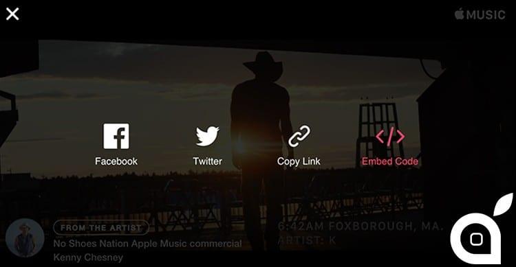 apple music embedded videos