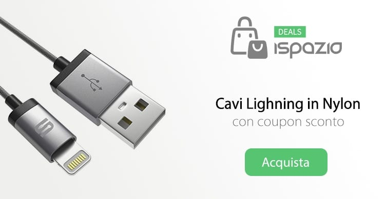 cavi lightning nylon coupon ispazio