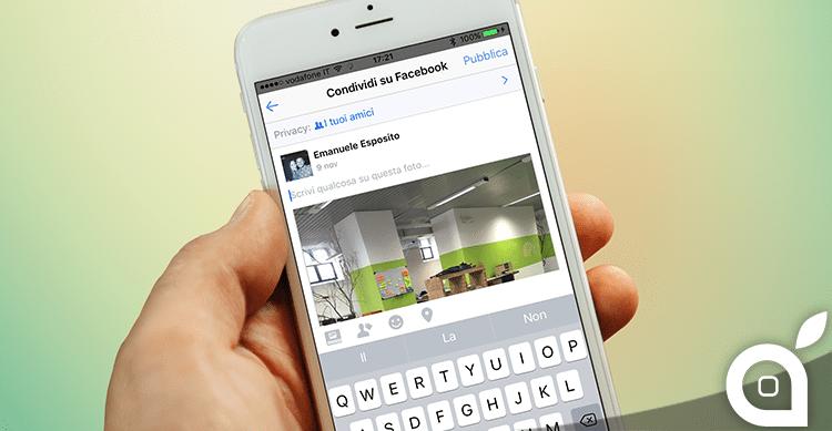 Facebook aggiorna la finestra di condivisione su iOS con nuove funzionalità