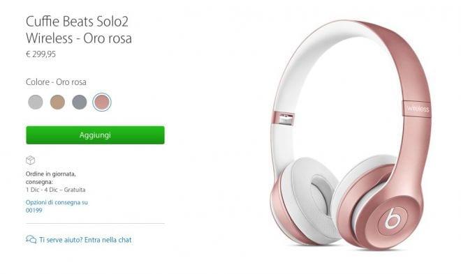 solo2 beats oro rosa