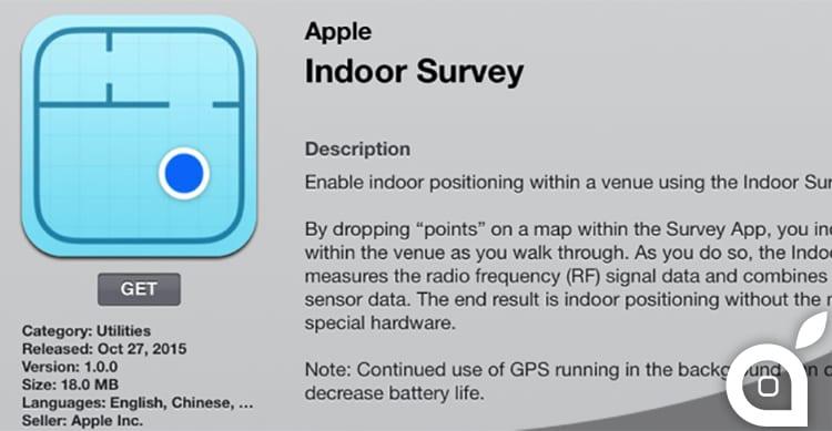 Apple sta testando una nuova app per il tracciamento della posizione in ambienti chiusi