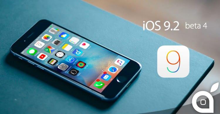 Apple rilascia iOS 9.2 beta 4 a sviluppatori e beta tester pubblici
