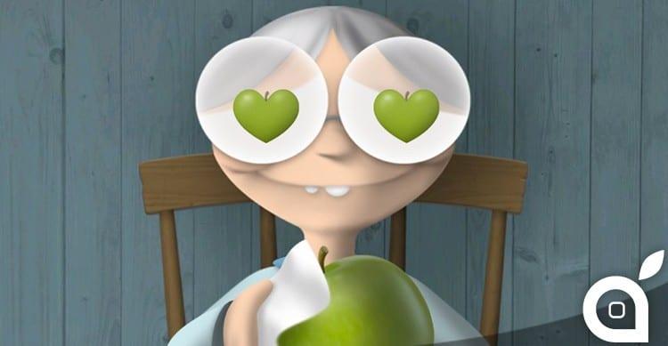 iphone apple grandmother
