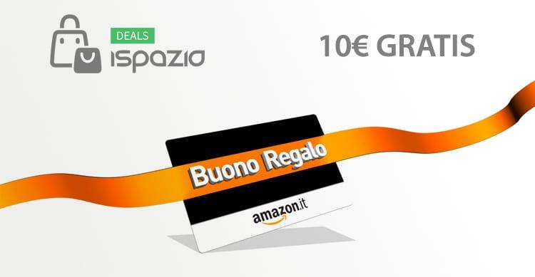 Fino al 15 Novembre, una Promozione Amazon vi regala 10€ con un Buono Regalo da 50€!