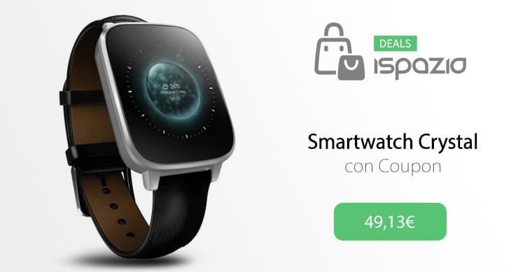 Crystal: uno smartwatch completo, compatibile sia con iOS che Android a soli 49,13€ con Coupon iSpazio