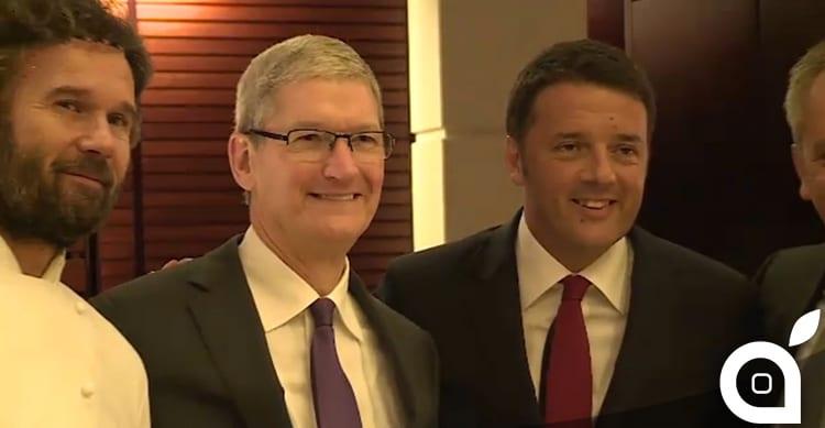 Tim Cook incontra Renzi a pranzo a Milano