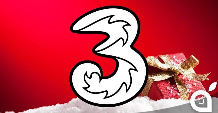 3 lancia la nuova offerta natalizia: per alcuni utenti 10 GB di traffico a 5€