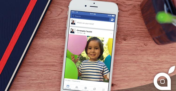 Facebook aggiunge il supporto per le Live Photos di iPhone 6S