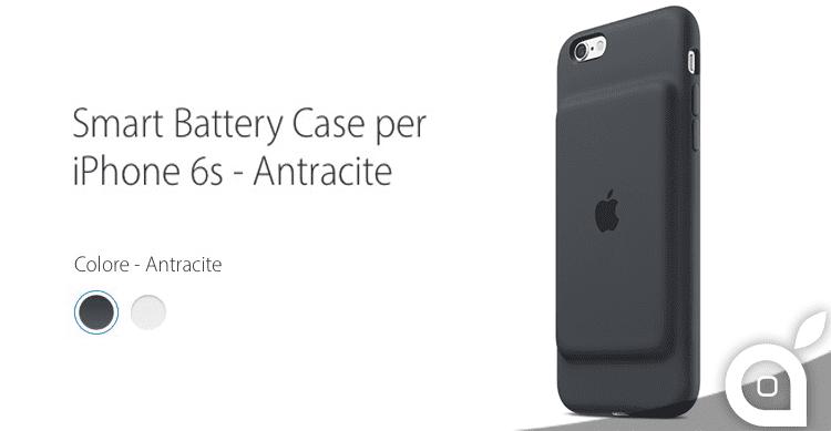 Apple mette in vendita per la prima volta una Smart Battery Case per iPhone 6s