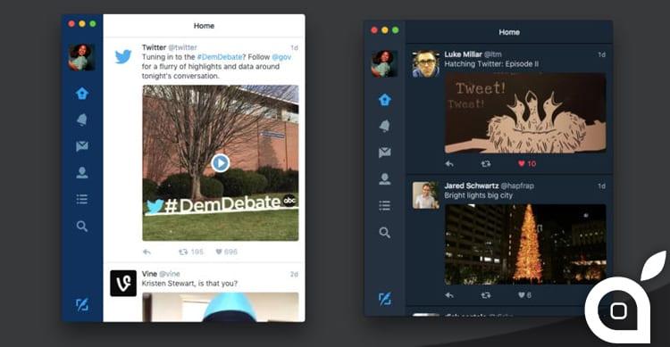 Nuova grafica e tante nuove features per il client ufficiale di Twitter per Mac