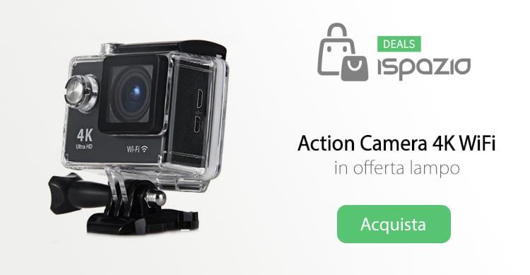 Action Camera Ultra HD 4K con WiFi a soli 44,10€ per i primi 150 utenti