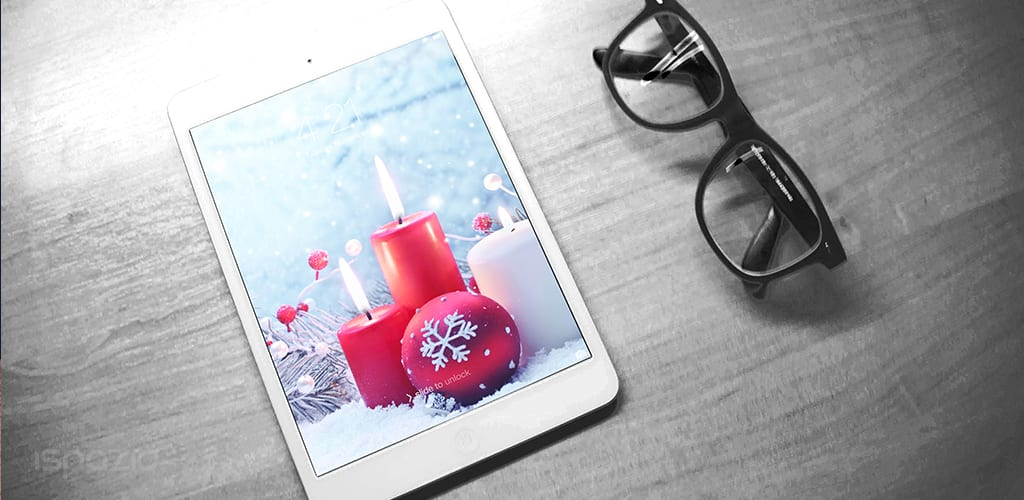 candles wallpaper christmas ipad iphone 2048