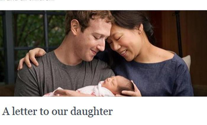 Mark Zuckerberg è diventato papà. In un messaggio pubblicato sulla sua pagina Facebook il 1 dicembre 2015, insieme a una foto con la moglie e la nuova nata, Zuckerberg annuncia che sua figlia si chiama Max. PROFILO FACEBOOK DI MARK ZUCKERBERG +++ATTENZIONE LA FOTO NON PUO? ESSERE PUBBLICATA O RIPRODOTTA SENZA L?AUTORIZZAZIONE DELLA FONTE DI ORIGINE CUI SI RINVIA+++