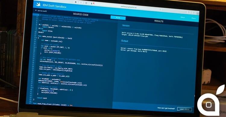 IBM Swift Sandbox to create iOS applications in th