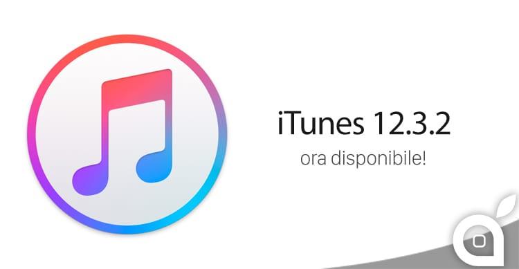 Apple rilascia iTunes 12.3.2