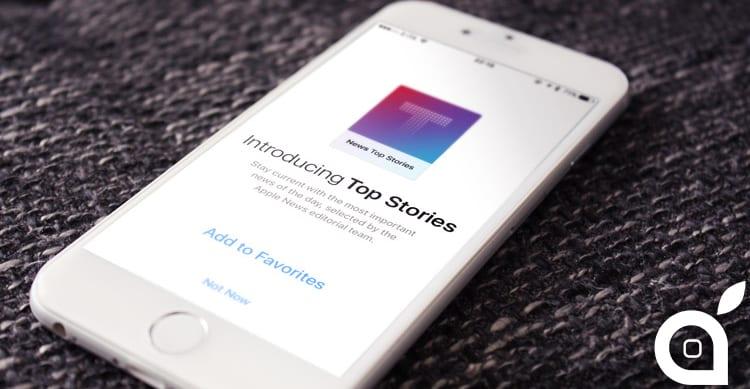 """Apple aggiunge il canale """"Top Stories"""" all'interno dell'applicazione News di iOS"""