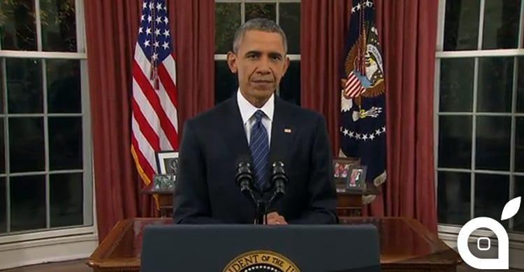 Obama chiede il massimo supporto ad Apple e alle aziende tech nella lotta all'ISIS [Video]