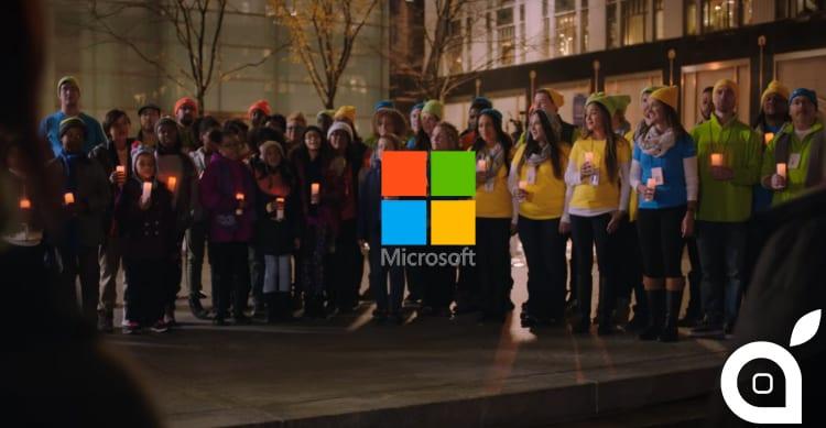 Microsoft lancia un'offerta di pace ad Apple nel suo Spot Natalizio [Video]