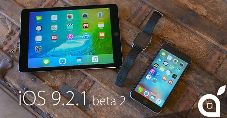 Apple rilascia la seconda beta di iOS 9.2.1 agli sviluppatori