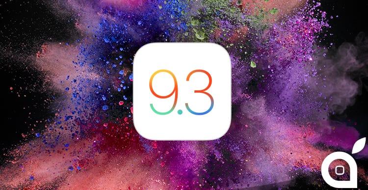 Apple rilascia la quarta beta di iOS 9.3 agli sviluppatori [AGGIORNATO X3]