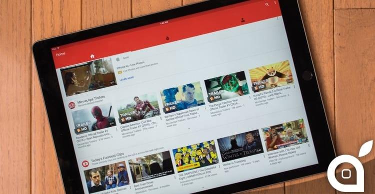 YouTube iPad Pro